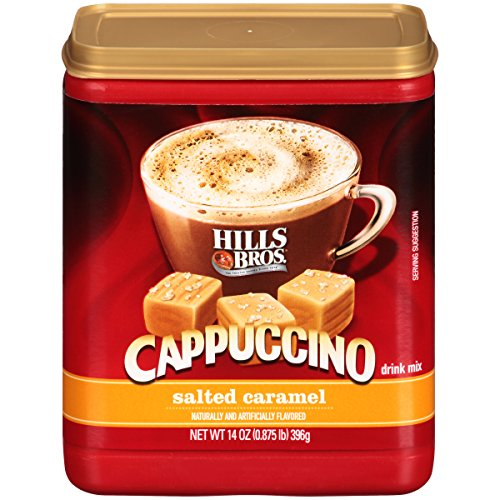 Hills Bros. Instant Cappuccino Mix, Salted Caramel Cappuccino Mix – Easy to Use and Convenient, Enjoy Coffeehouse Flavor from Home – Decadent Cappuccino with Creamy Caramel and Salt (14 Ounces) Review