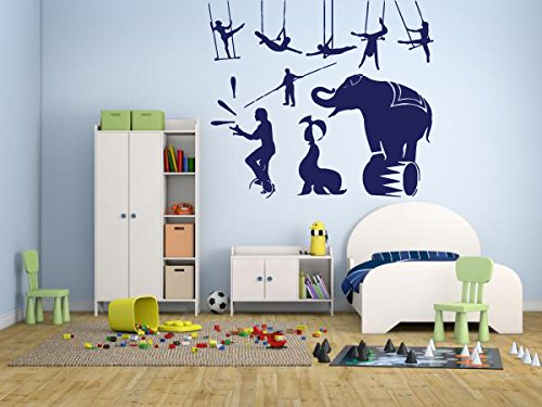 wall-decal-sticker-bedroom-circus-elephant-acrobats-boys-girls-kids-teenager-room-275b