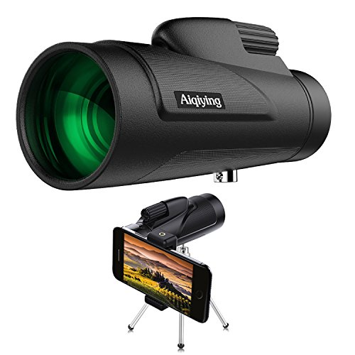 Monocular Telescope, 12x50 HD Dual Focus Low Night Vision Wa