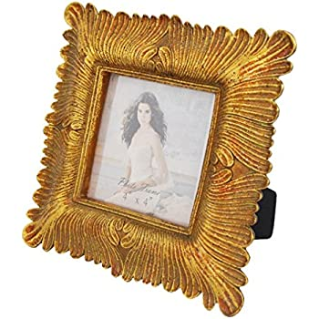 Amazon.com - Gift Garden 4x4 Square Gold Picture Frame Vintage ...
