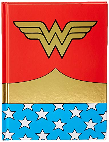 Silver Buffalo WW0150 DC Comics Wonder Woman Uniform Hard Cover Journal with Ribbon Book Mark, 160-Pages, 6 x 8 inches