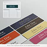 Personalized Name Plate Sign with Rounded Corners - 2x12 - Customize - Choose from 24 Color Options