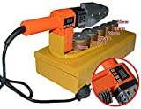 Huanyu 20-63mm Plastic Water Pipe Welder PP/PP-R/PE/PP-C Pipe Welding Machine Tool Pipeline Construction Equipment with Digital Readout (110V)
