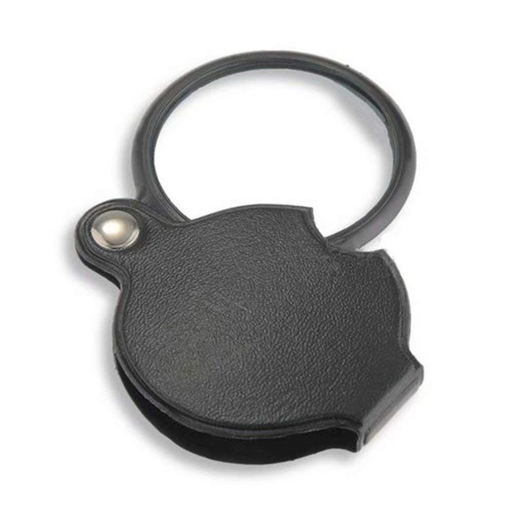 Silver 20X 21mm Portable Jewelry Loupe Folding Magnifying Glass Pocket Magnifier for Reading Inspection Gem Rock Stamp Coins Hobbies