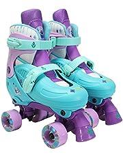 "PlayWheels Disney Frozen Classic Quad Roller Skates, Size 1-4 Multi-color, 8.58"" x 4.52"" x 8.07"""