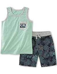 Calvin Klein Baby Boys' 2 Pieces Muscle Top Short Set