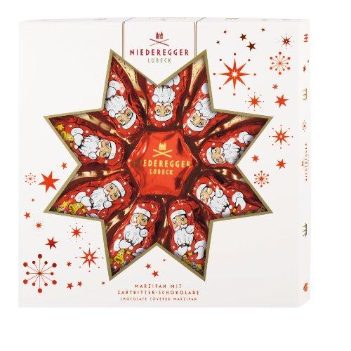 Niederegger Marzipan Weihnachtsmänner und Stern, 1er Pack (1 x 125 g)