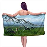 Leigh home Bath Towel,Agricultural irrigating Sprayer,Beach Towels for Kids & Adults, Pool, Swim, Water Sports W 27.5' x L 55'