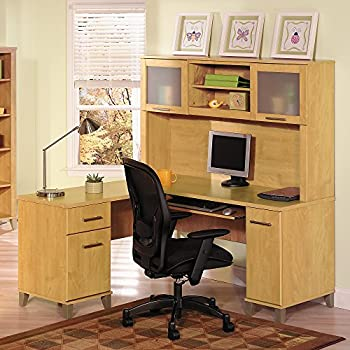 Somerset 60W L Shaped Desk with Hutch