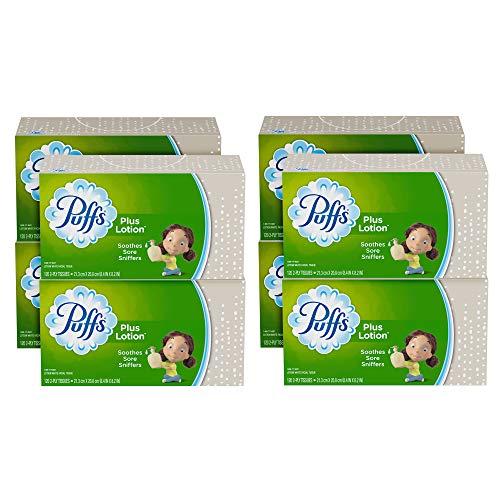 Gamble Puffs Facial Tissue - Puffs Plus Lotion Facial Tissues, 8 Family Boxes, 120 Tissues per Box