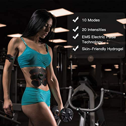 MEILYLA Muscle Toner Abdominal Toning Belt for Men Women ABS Trainer Portable Unisex Fitness 2