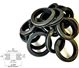 Lot of 18 Rubber Grommets 1-3/4'' Inside Diameter- Fits 2'' Wall Panel Holes