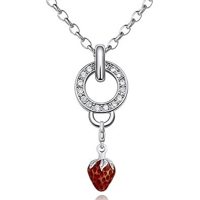 Morella - Charm Collar de acero inoxidable 70 cm y ...
