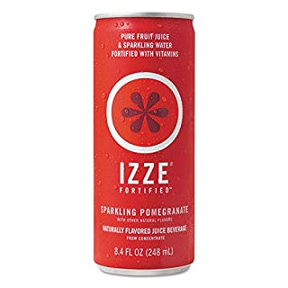 IZZE Fortified Sparkling Juice, Pomegranate, 8.4 Fl Oz (24 Count)