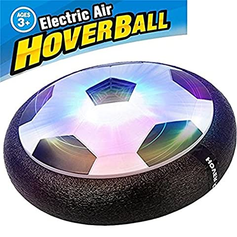 KOSBON Kids Air Power Soccer Football Boys Girls Sport Toys Children Training Football Indoor Outdoor Disk Hover Ball Game with Foam Bumpers and Light Up LED Lights - Power Air Hockey