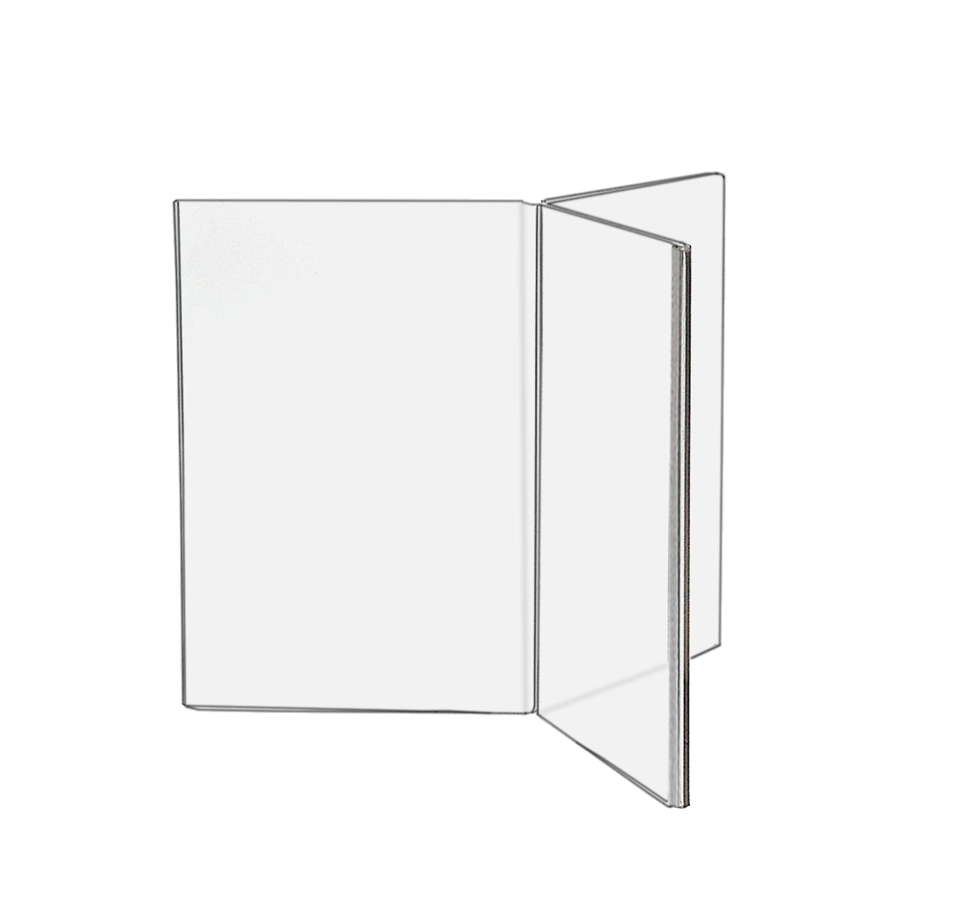 Marketing Holders 6-Sided Table Tent, 4'' w x 6'' h Inches for Menu Cards, Table Signs, Advertisements & POP Signs Lot of 6