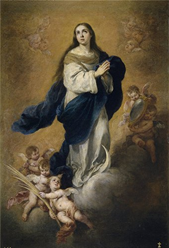 (The Polyster Canvas Of Oil Painting 'Murillo Bartolome Esteban La Inmaculada Concepcion 1665 75 ' ,size: 10 X 15 Inch / 25 X 37 Cm ,this Replica Art DecorativeCanvas Prints Is Fit For Study Artwork And Home Gallery Art And Gifts)