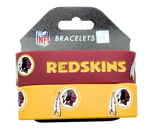 Rubber Washington Redskins Bracelets (Aminco International NFL-BC-207-28 Silicone Rubber Bracelet - Washington)