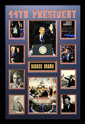 US Art 24x36 Inch Collage of 44th PRESIDENT BARACK OBAMA. BL