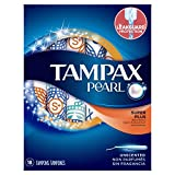 Tampax Pearl Plastic Tampons, Super Plus Absorbency, Unscented, 18 Count - Pack of 12 (216 Total Count)