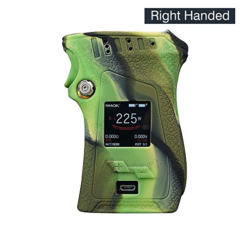 DSC-Mart Texture Case for Smok Mag 225W Right Handed Box MOD Protective Silicone Skin Rubber Cover Sleeve Wrap Gel fits MAG 225W Starter Kit (Camo) ()