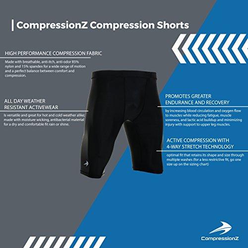CompressionZ Men's Shorts, Medium - Black