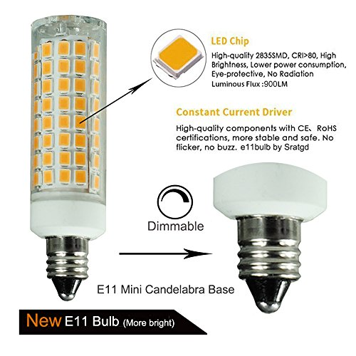 5 Pack E11 Led Bulb 75w Or 100w Equivalent Halogen