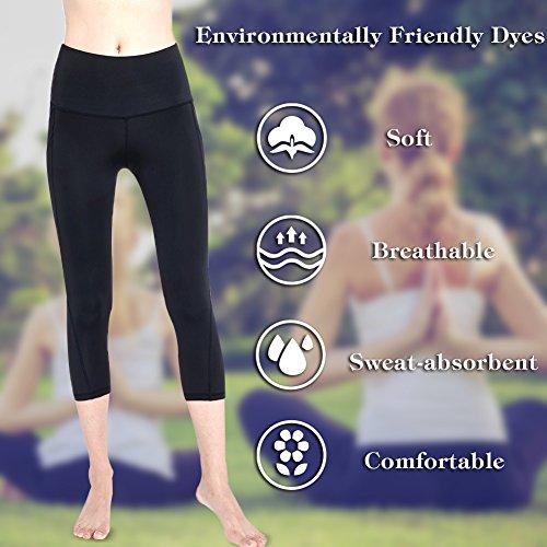 BLENDNEW High Waist Yoga Pants-Tummy Control,4 Way Stretch Women's Workout Yoga Leggings with Pocket(BC-27-M)