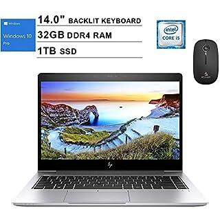 2020 Newest HP EliteBook 840 14 Inch FHD 1080P Business Laptop (Intel 4-Core i5-8265U up to 3.9GHz, 32GB RAM, 1TB SSD, Backlit KB, FP Reader, Windows 10 Pro) (Silver) + NexiGo Wireless Mouse Bundle