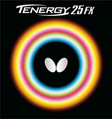 (Butterfly 2.1 Tenergy 25 FX Rubber, Red )