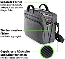 Belkin Classic Pro Messenger Tasche (15,6 Zoll, Laptop Tasche) grau