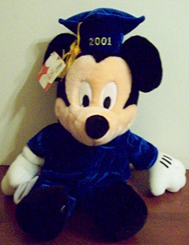 Graduate 2001 Mickey Mouse Plush Hat Gown Boys & Girls