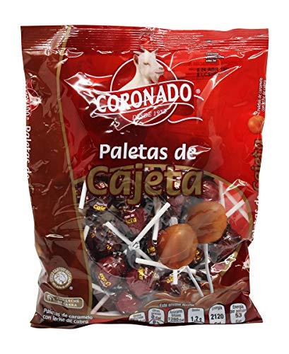 - Coronado Cajeta Candy. Mexican Goat Milk Caramel Lollipops. Bag of 40 Suckers. Paletas de Cajeta, Caramelo con Leche de Cabra.