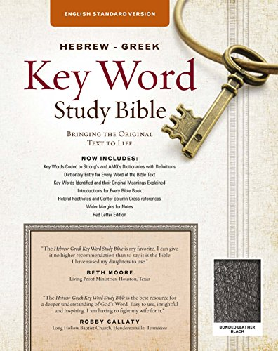 The Hebrew-Greek Key Word Study Bible: ESV Edition, Black Bonded Leather (Key Word Study Bibles)