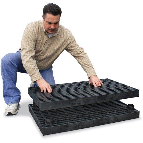 STRUCTURAL PLASTICS A6624B Add A Level Modular Work Platform, Base Platform, 66'' x 24''