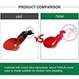 MODUODUO 12 Sets Automatic Drinker Cups with Nipple Drinking for Bird Poultry Upgraded Chicken Waterer Pigeon Quail