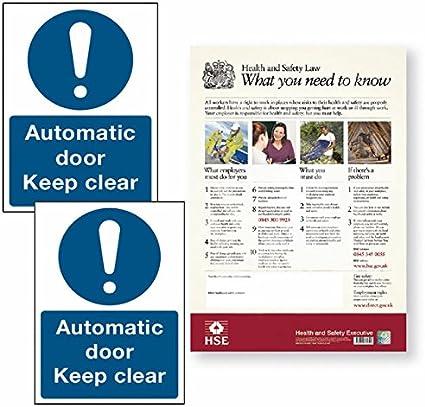 señales de seguridad para puertas correderas kit 15 - carteles ...