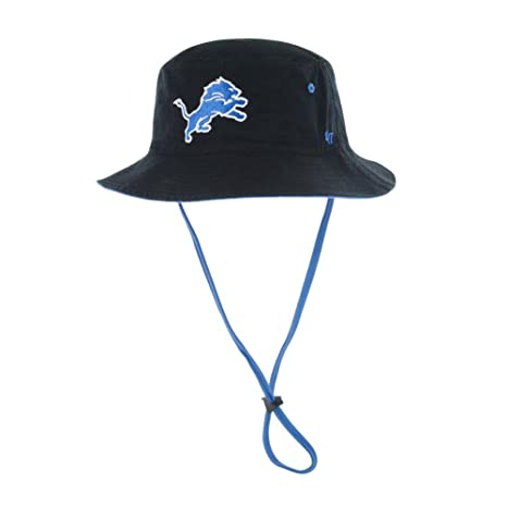4248e2c3319bb Amazon.com    47 NFL Detroit Lions Kirby Bucket Hat with Chin Strap ...
