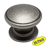 Cosmas 4702WN Weathered Nickel Cabinet Hardware Round Knob - 1-1/4