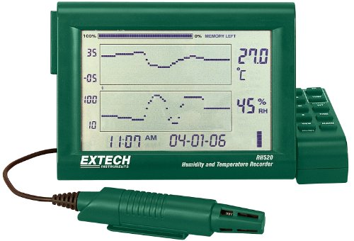 (Extech RH520A-240 Humidity Plus Temperature Chart Recorder 240V with Detachable Probe)