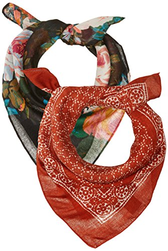 - Steve Madden Women's Classic and Floral Bandana Set, 2pk, one size