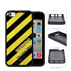Warning I'm Crazy Bitch Rubber Silicone TPU Cell Phone Case Apple iPhone 5c
