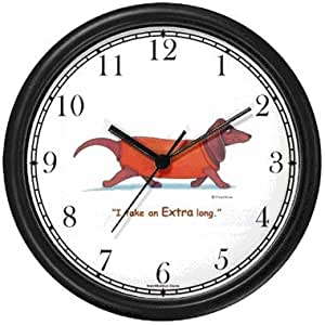 Hello Pet Wall Clock – Dachshund