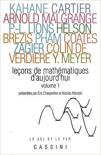 Livres gratuits Leçons de mathématiques d'aujourd'hui : Volume 1 pdf