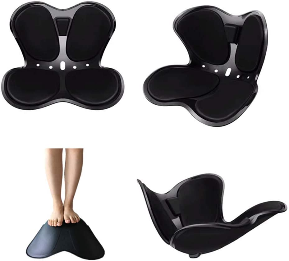 XXY.XXY Gliwei Cuscini Per Sedie Ortopedico, Cojín de silla de ruedas para coche con espuma viscoelástica, nalgas hermosas, respaldo de polipropileno de alta densidad 34 * 38 * 42 cm