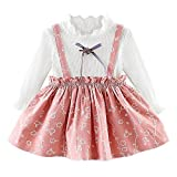 Baby Girls Cute Floral Dresses Newborn Infant Flower Clothes 0-24 Months Long Sleeve Party Princess Dresses
