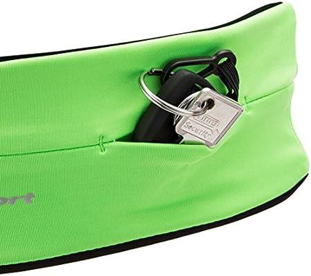 Ultrasport con Compartimento de Tubo Cinturón de Correr, Unisex, Verde, M: Amazon.es: Deportes y aire libre