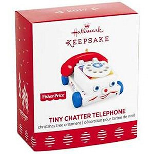 Hallmark 2017 Tiny Chatter Telephone Mini Ornament