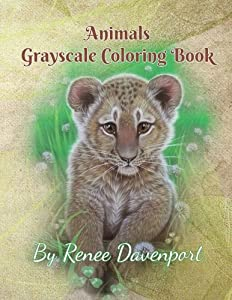Animals Grayscale Coloring Book
