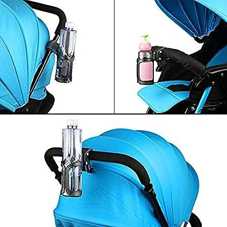 Abreome Getränkehalter Kinderwagen Becherhalter Fahrrad 2 Stück Universal 360grad Drehantislip Getränke Halter Für Auto Kinderwagen Fahrrad Rollstuhl Und Motorrad Schwarz Auto